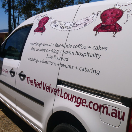 Van Signage - Red Velvet Lounge