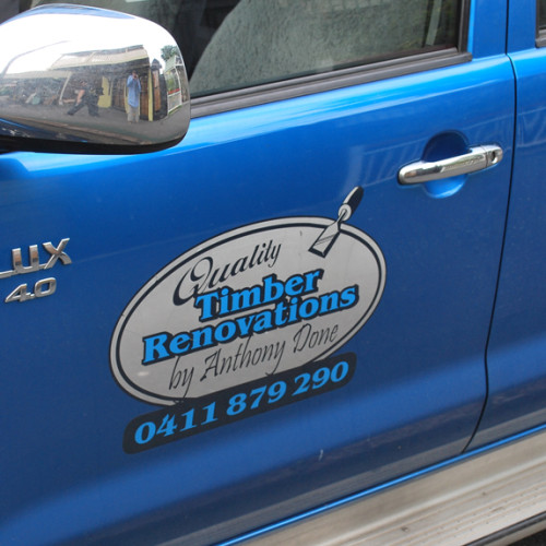 tradesmans vehicle lettering