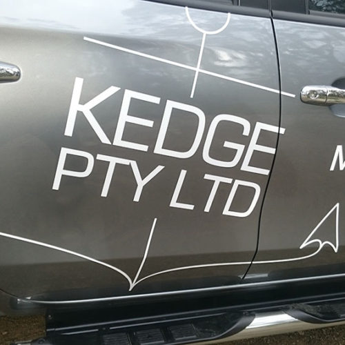SmartSigns Car Signage Kedge side